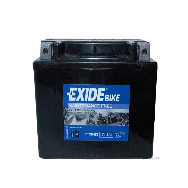 Аккумулятор Exide Bike YTX9-BS 12V