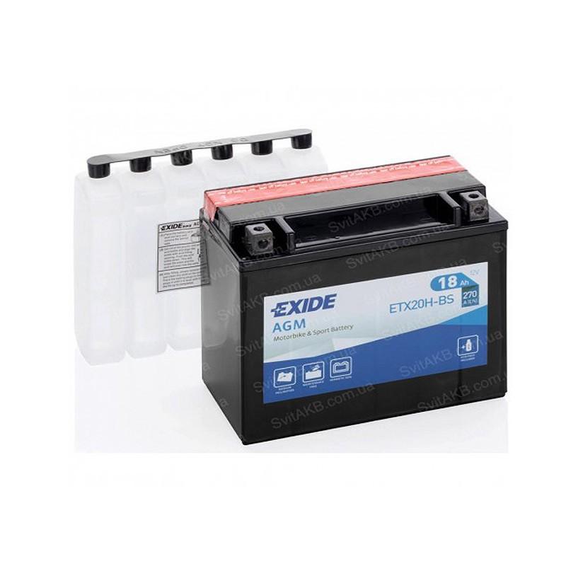 Аккумулятор Exide AGM ETX20H-BS 12V