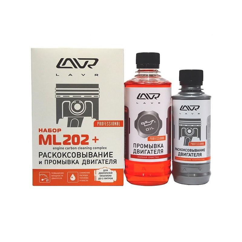 Набор: Раскоксовывание МL202 + 5-минутная промывка двигателя, 185мл/ 330мл