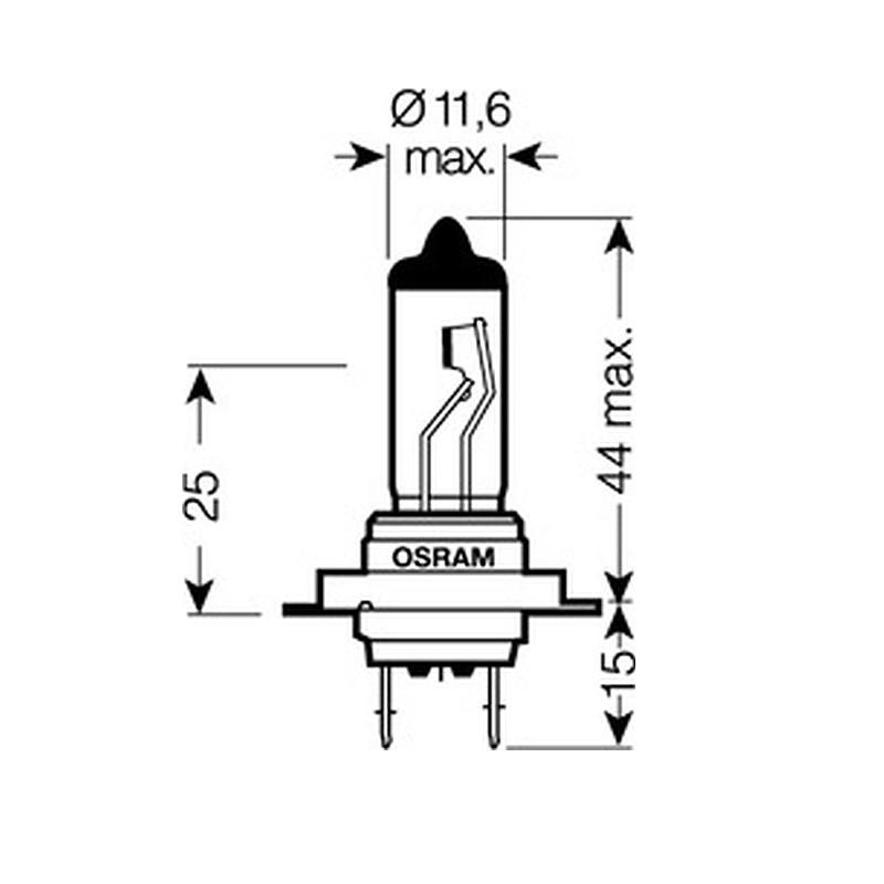 Лампа автомобильная Osram Silverstar H7 12V 64210SV2