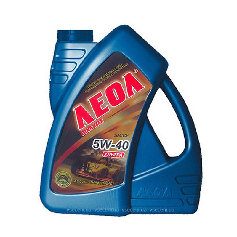 ЛЕОЛ УЛЬТРА 5w-40 синтетическое моторное масло 4л.