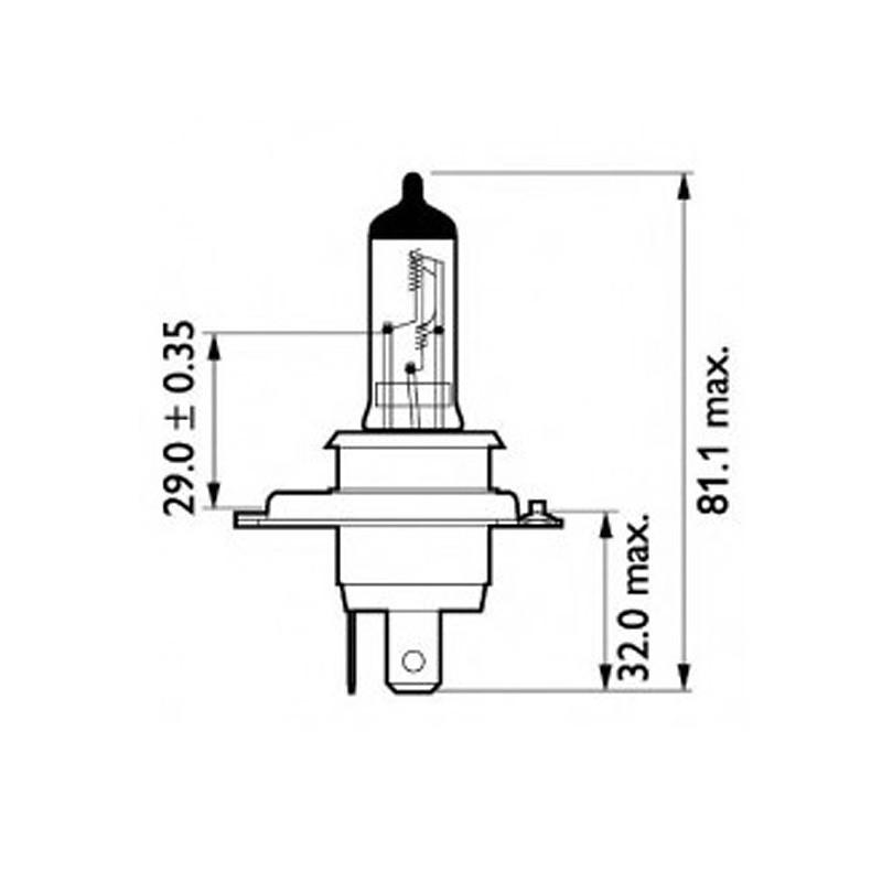 Лампа автомобильная Osram Cool Blue OS 64193 CBI-01B (H4)