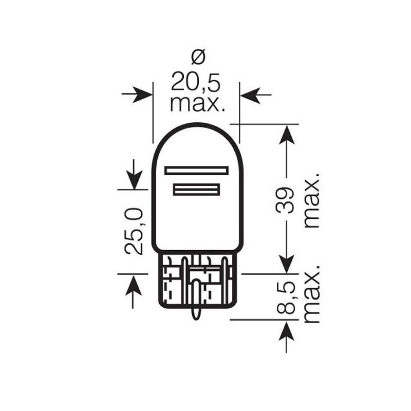 Автомобильная лампа OSRAM 21/5W OS 7515