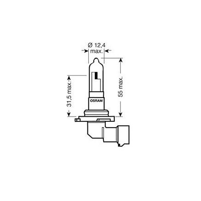 Лампа автомобильная Osram Original Line OS 9005 (HB3)