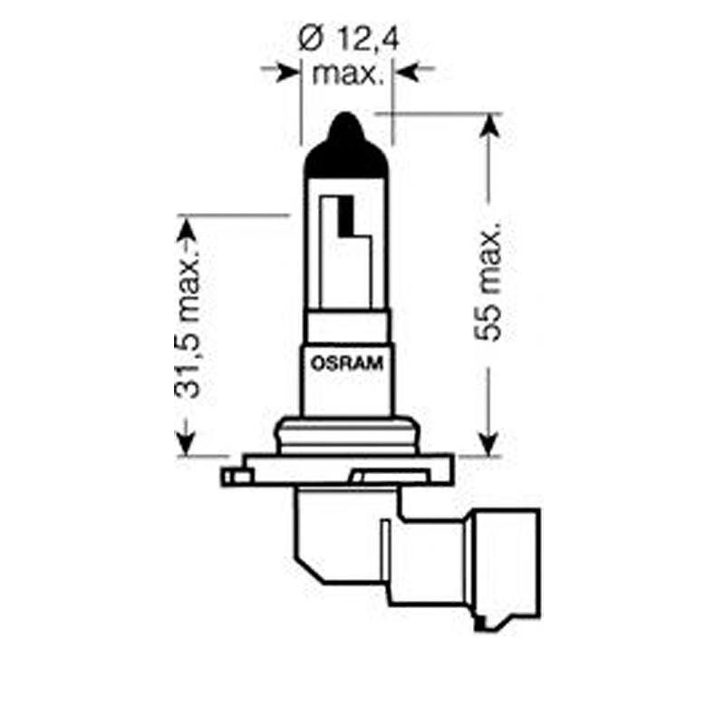 Лампа автомобильная Osram Original Line OS 9006 (HB4)