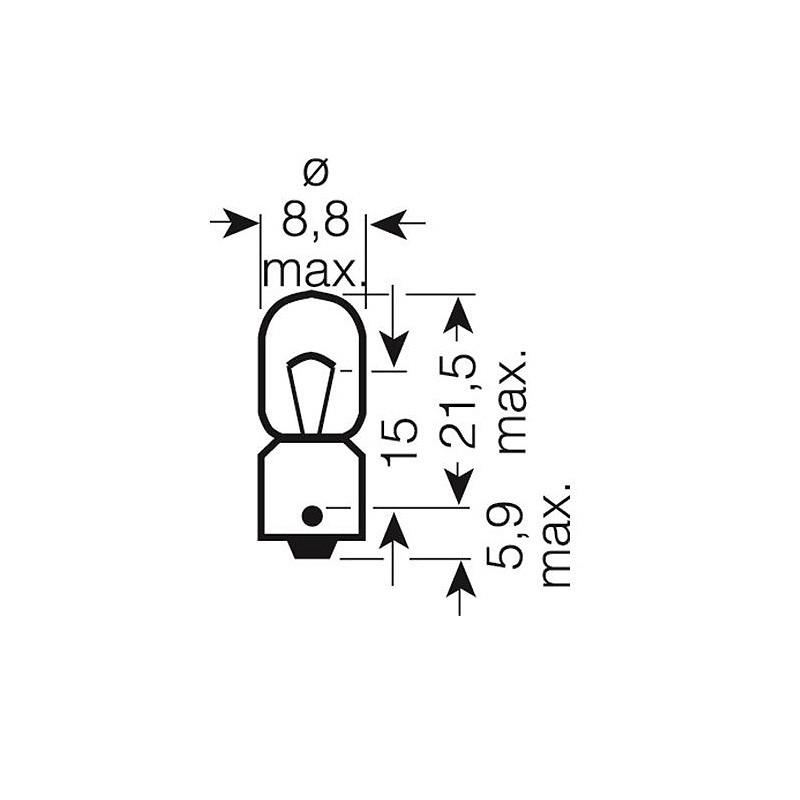 Автомобильная лампа OSRAM 4W OS 3893