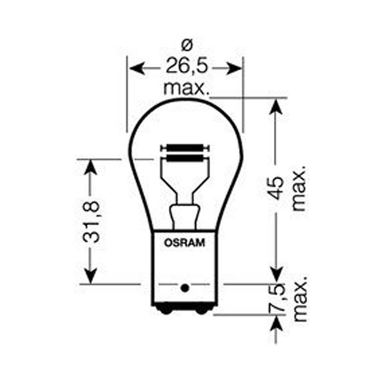 Автомобильная лампа OSRAM 21/5W OS 7528