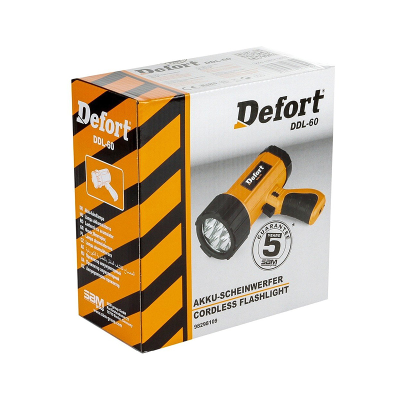 Фонарь DEFORT LED DDL-60
