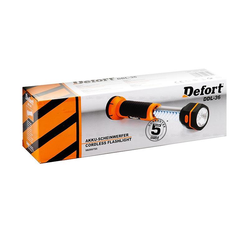 Фонарь светодиодный Defort DDL-36