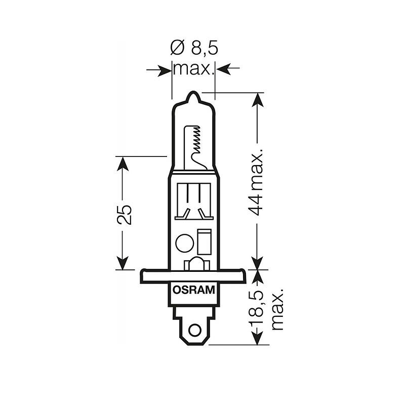 Лампа автомобильная Osram Cool Blue OS 64150 CBI (H1)