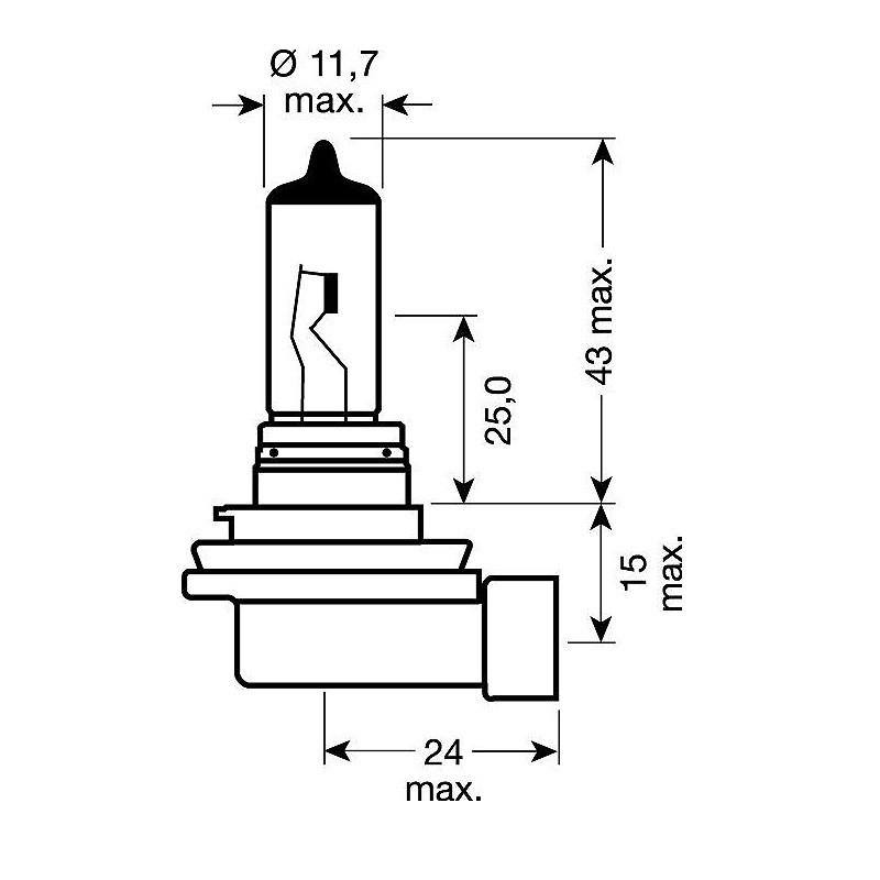 Лампа автомобильная Osram Original Line OS 64212 (H8)