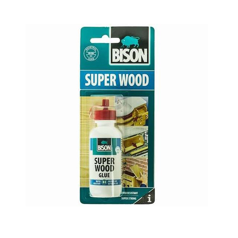 Водостойкий клей для дерева  BISON SUPER WOOD GLUE D3