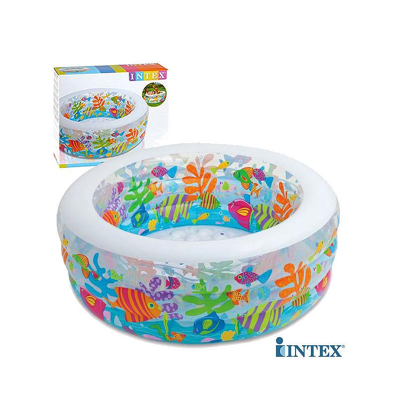Бассейн детский надувной «Аквариум» Intex 58480