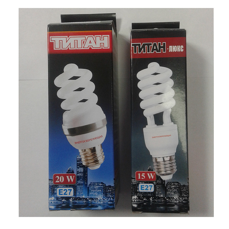 Энергосберегающие лампочки Титан Люкс 9W-35W