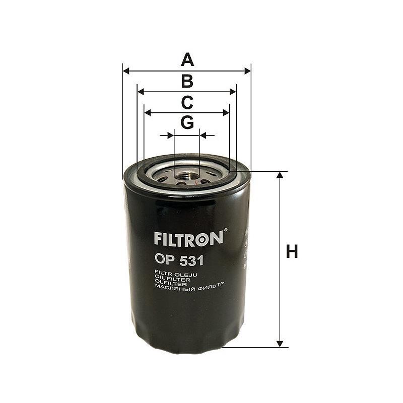OP531 Масляный фильтр Filtron