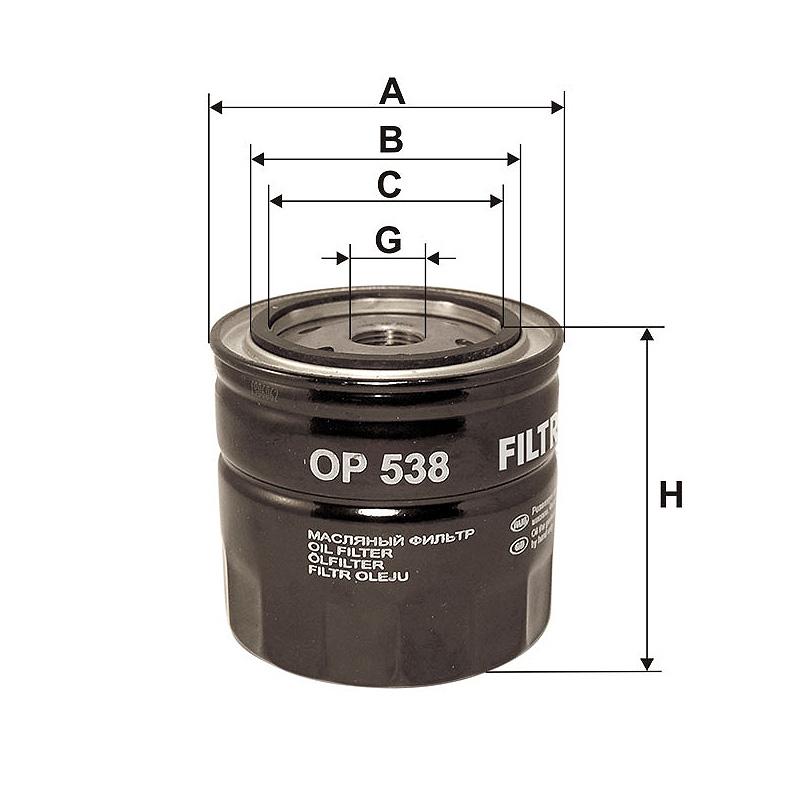 OP538 Масляный фильтр Filtron