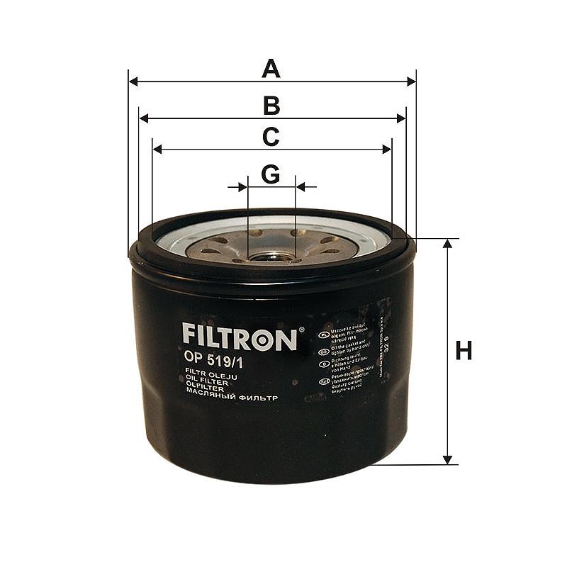 OP519/1 Масляный фильтр Filtron