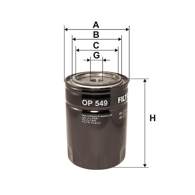 OP549 Масляный фильтр Filtron