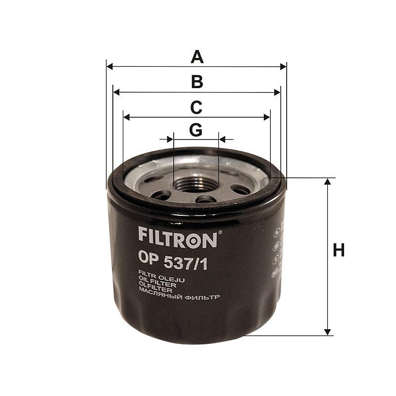 OP537/1 Масляный фильтр Filtron