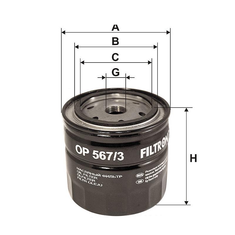 OP567 Масляный фильтр Filtron