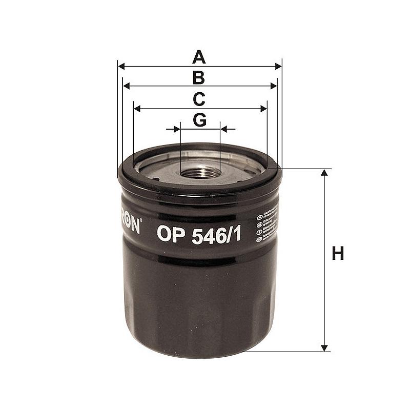 OP546/1 Масляный фильтр Filtron