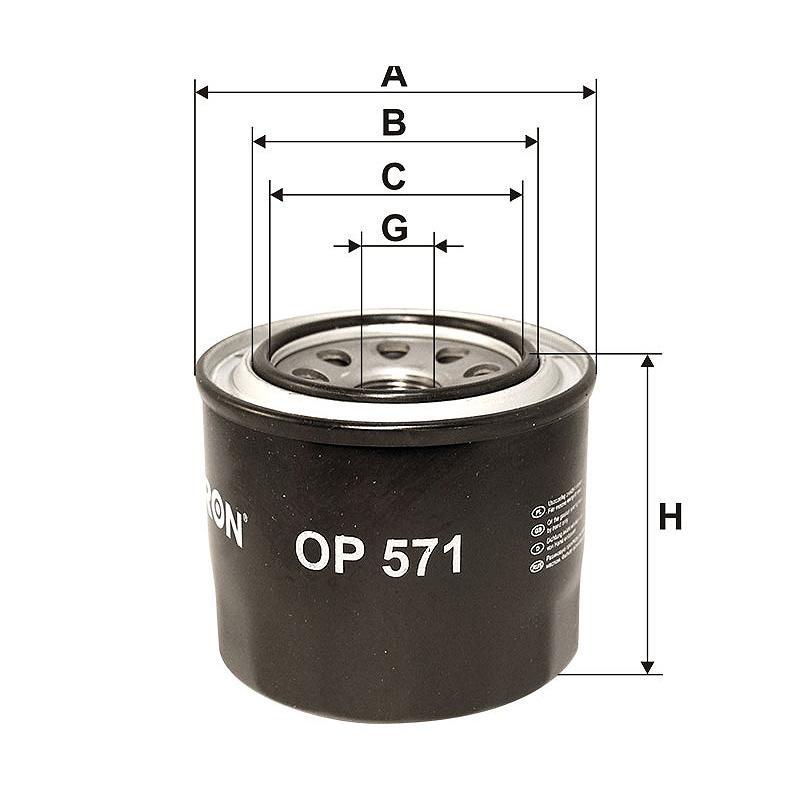 OP571 Масляный фильтр Filtron
