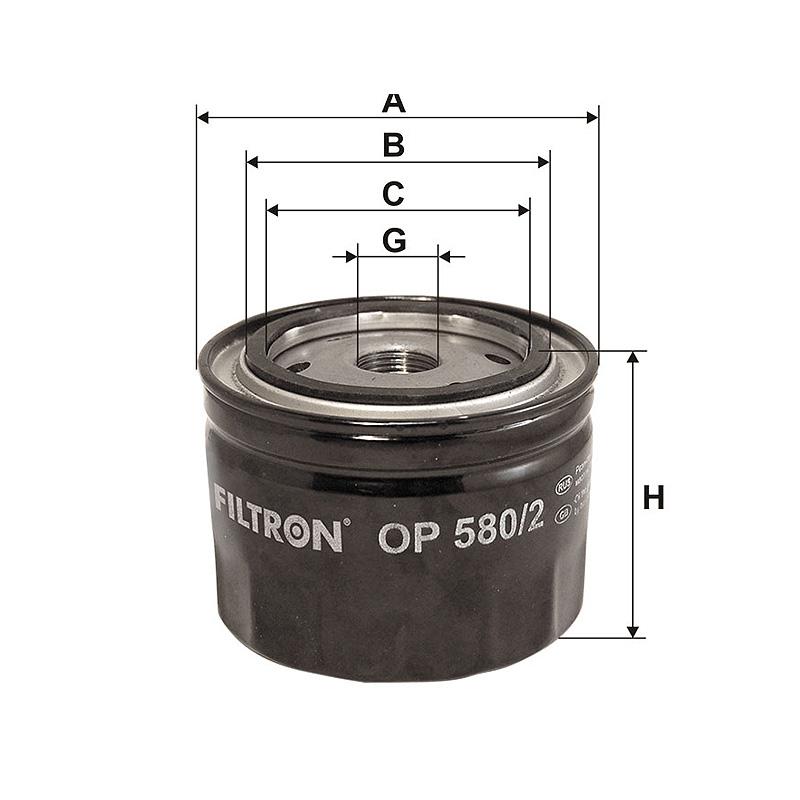 OP580/2 Масляный фильтр Filtron