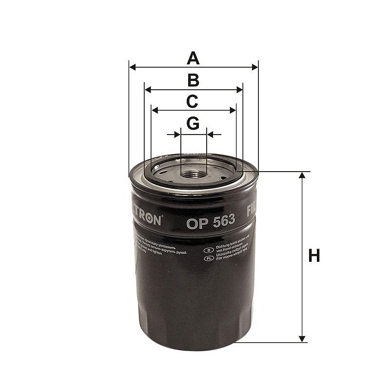 OP563 Масляный фильтр Filtron